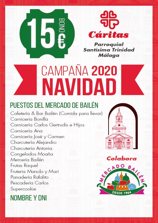 bono-campaña-navidad-caritas-parroquial-santisima-trinidad